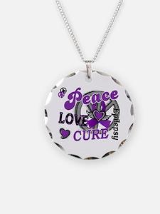 Peace Love Cure 2 Epilepsy Necklace