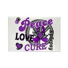 Peace Love Cure 2 Epilepsy Rectangle Magnet