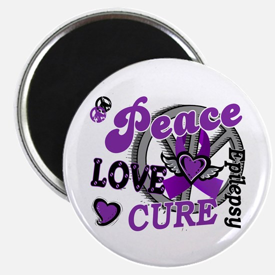 Peace Love Cure 2 Epilepsy Magnet