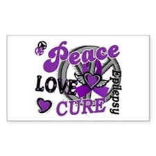 Peace Love Cure 2 Epilepsy Decal
