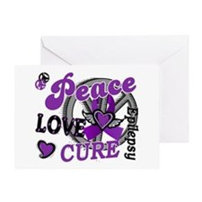 Peace Love Cure 2 Epilepsy Greeting Card
