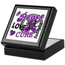 Peace Love Cure 2 Epilepsy Keepsake Box