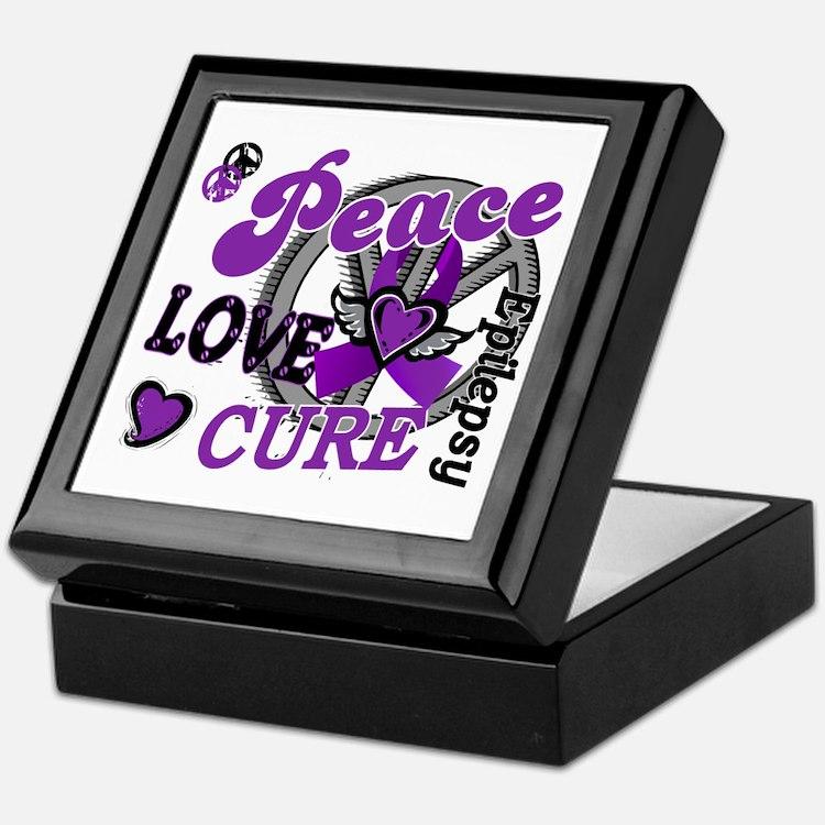 Peace Love Cure 2 Epilepsy Keepsake Box