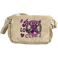 Peace Love Cure 2 Epilepsy Messenger Bag