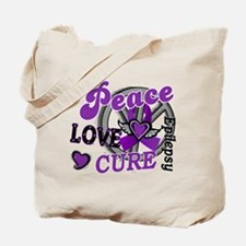 Peace Love Cure 2 Epilepsy Tote Bag