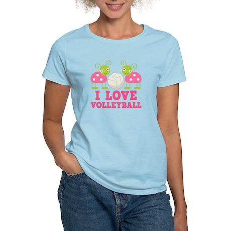 I Love Volleyball Ladybug Women's Light T-Shirt