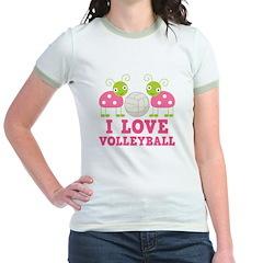 I Love Volleyball Ladybug T