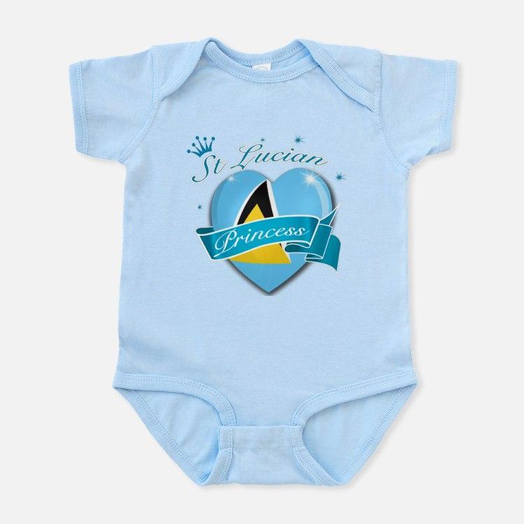 St Lucian Princess Infant Bodysuit