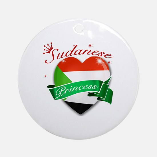 Sudanese Princess Ornament (Round)