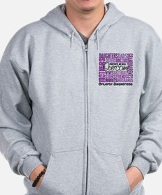 Family Square Epilepsy Zip Hoodie