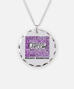 Family Square Epilepsy Necklace