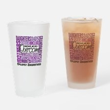 Family Square Epilepsy Drinking Glass