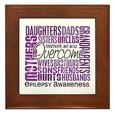 Family Square Epilepsy Framed Tile