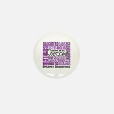 Family Square Epilepsy Mini Button (10 pack)