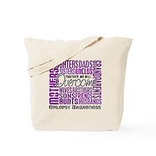 Family Square Epilepsy Tote Bag
