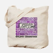 Family Square Epilepsy Tote Bag