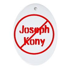 Stop Joseph Kony Ornament (Oval)