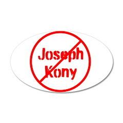 Stop Joseph Kony 38.5 x 24.5 Oval Wall Peel