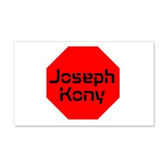 Stop Sign Joseph Kony 22x14 Wall Peel