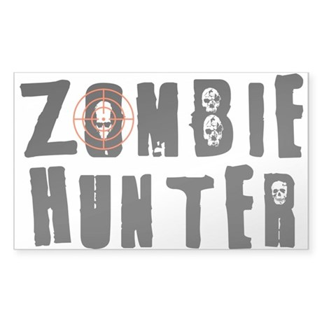 Zombie Hunter Sticker (Rectangle)