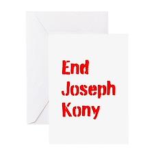 End Joseph Kony Greeting Card