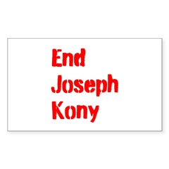 End Joseph Kony Sticker (Rectangle 10 pk)
