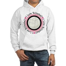 I Love Volleyball Gift Hoodie
