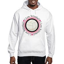 I Love Volleyball Gift Hoodie Sweatshirt