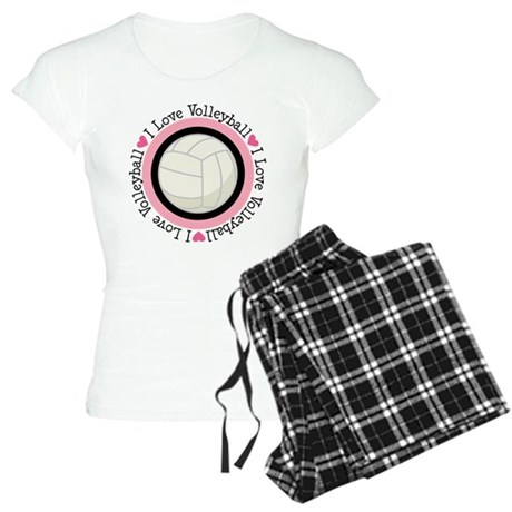 I Love Volleyball Gift Women's Light Pajamas