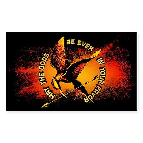 Grunge Hunger Games Sticker (Rectangle)