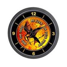 Grunge Hunger Games Wall Clock