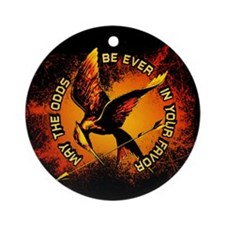 Grunge Hunger Games Ornament (Round)