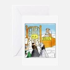 Funny Zeus Greeting Card