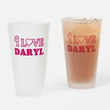 I Love Daryl Drinking Glass