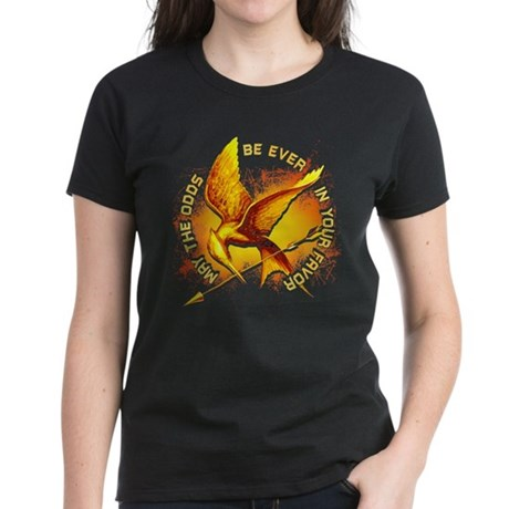 Hunger Games Grunge Women's Dark T-Shirt