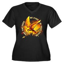 Hunger Games Grunge Women's Plus Size V-Neck Dark