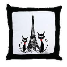 Cat Lovers Throw Pillow