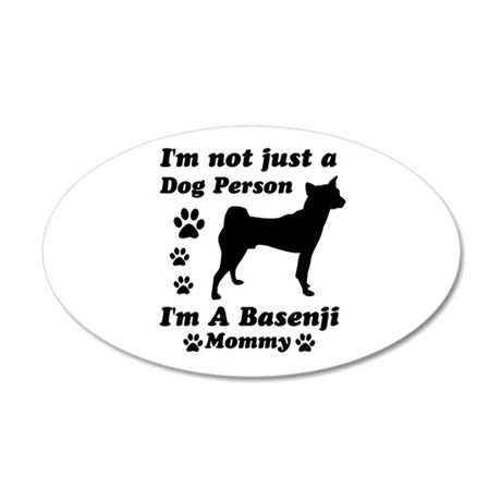 Basenji Mommy 22x14 Oval Wall Peel