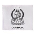 Cambodia Buddha Throw Blanket