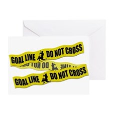 Lacrosse Crime Tape Greeting Card