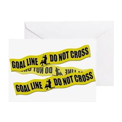 Lacrosse Crime Tape Greeting Card
