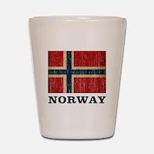 Vintage Norway Shot Glass