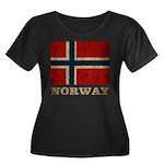 Vintage Norway Women's Plus Size Scoop Neck Dark T
