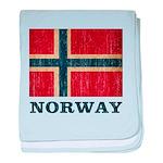 Vintage Norway baby blanket