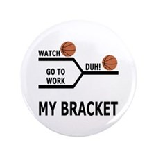 """March Madness Skip Work 3.5"""" Button (100 pack)"""