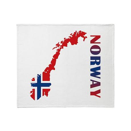 Map Of Norway Throw Blanket