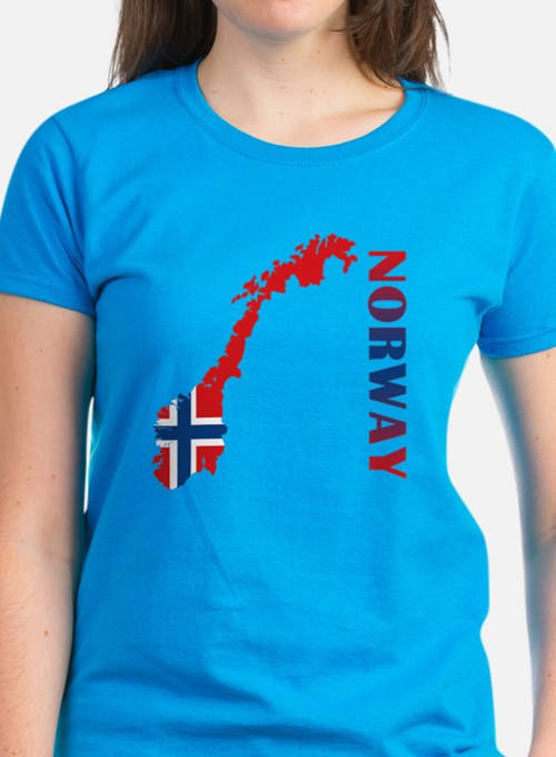 Map Of Norway Tee