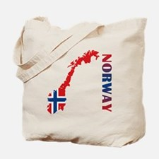 Map Of Norway Tote Bag