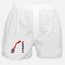 Map Of Norway Boxer Shorts