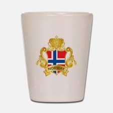 Gold Norway Shot Glass